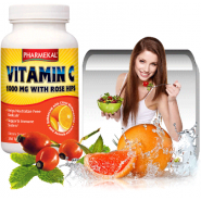 Vitamina C 1000mg cu acerola, macese si bioflavonoide - 350 tablete